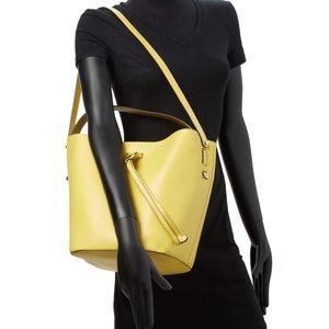 NWOT 🌞 Furla Vittoria Yellow Senape bucket bag